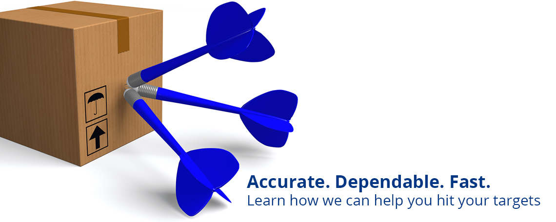 Slide: Accurate, Dependable, Fast Fulfillment Service